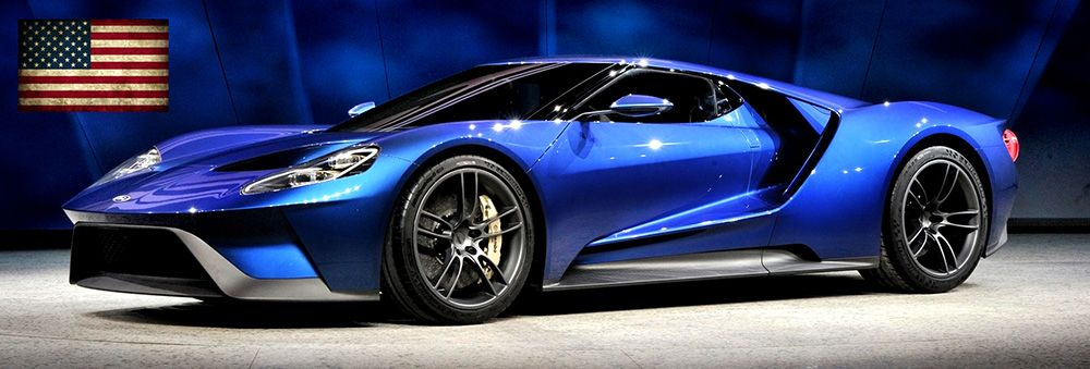The new Ford GT was unveiled at the 2015 Detroit Auto Show