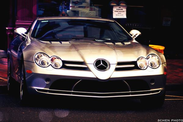 A Mercedes SLR McLaren costs around £350k